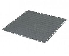 PVC kliktegel grijs 500 x 500 x 7 mm. - Industriële werkplaatstegel met ronde noppen