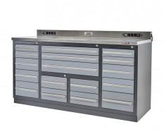 Professionele werkbank – montagetafel 183 x 70 x 95 cm. met 17 laden