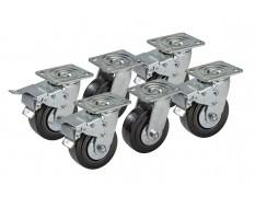 Set van 6 wielen voor de 2740 werkbankserie