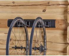 Metalen strip 60 cm met twee fiets ophanghaken - fiets ophangen verticaal aan voorwiel